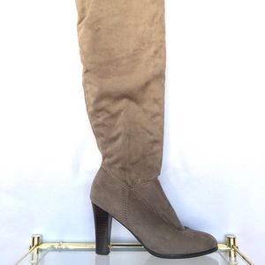 Impo Over The Knee Gray Suede Boots Size 7